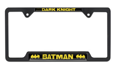 Batman Dark Knight Open Black License Plate Frame