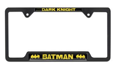 Batman Dark Knight Open Black License Plate Frame image