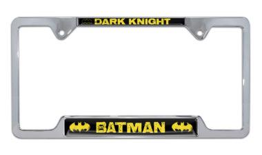 Batman Dark Knight Open Chrome License Plate Frame image