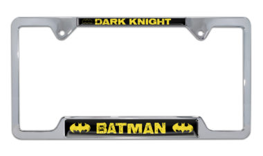 Batman Dark Knight Open Chrome License Plate Frame