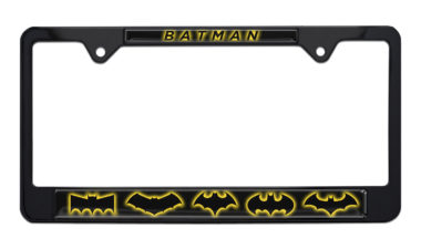 Batman Evolution Black License Plate Frame