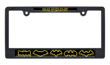 Batman Evolution Black Plastic License Plate Frame image