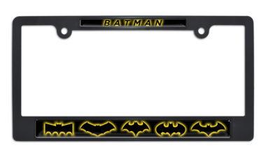 Batman Evolution Black Plastic License Plate Frame