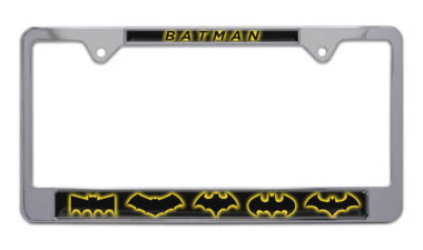 Batman Evolution Chrome License Plate Frame image