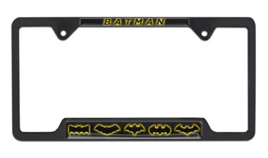 Batman Evolution Open Black License Plate Frame image