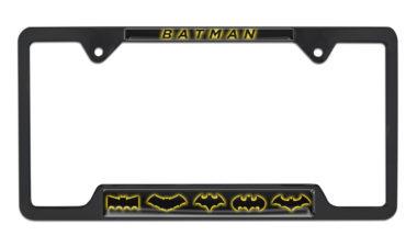 Batman Evolution Open Black License Plate Frame image