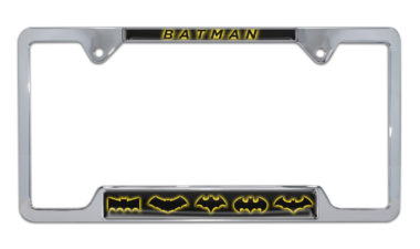 Batman Evolution Open Chrome License Plate Frame image