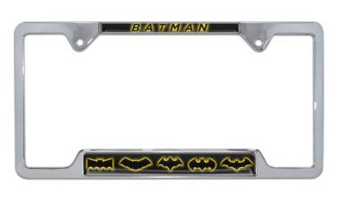 Batman Evolution Open Chrome License Plate Frame
