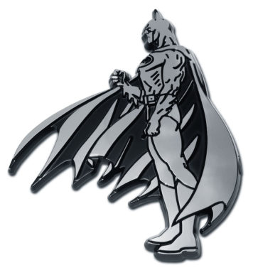 Batman Figurine Side Chrome Emblem