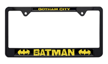 Batman Gotham City Black License Plate Frame