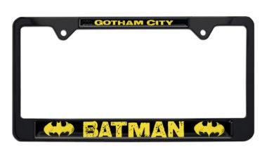 Batman Gotham City Black License Plate Frame image