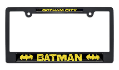 Batman Gotham City Black Plastic License Plate Frame