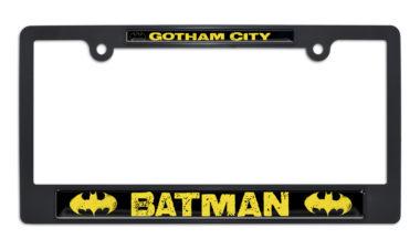 Batman Gotham City Black Plastic License Plate Frame image