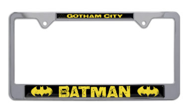 Batman Gotham City Chrome License Plate Frame image