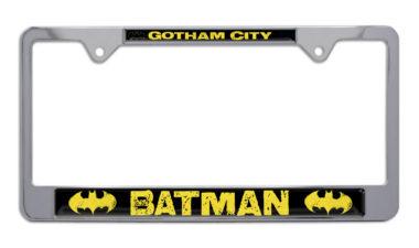 Batman Gotham City Chrome License Plate Frame image