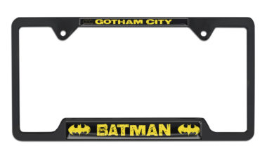 Batman Gotham City Open Black License Plate Frame