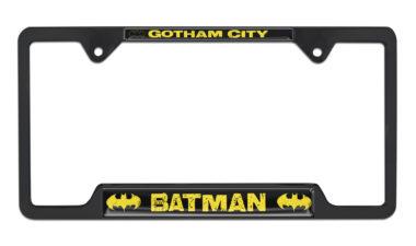 Batman Gotham City Open Black License Plate Frame image