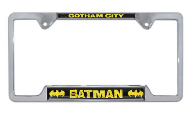 Batman Gotham City Open Chrome License Plate Frame image