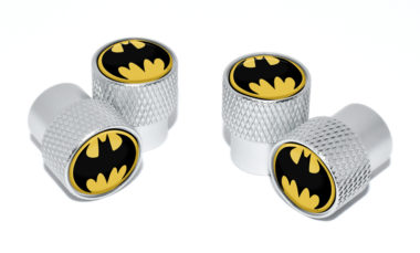 Batman Valve Stem Caps - Matte Knurling