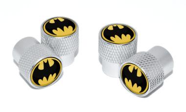 Batman Valve Stem Caps - Matte Knurling