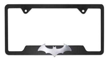 Batman Bat 3D Open Black License Plate Frame