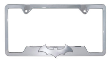 Batman Bat 3D Open Chrome License Plate Frame
