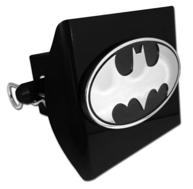 Batman Emblem on Black Plastic Hitch Cover