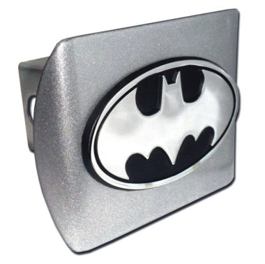 Batman Emblem on Brushed Hitch Cover