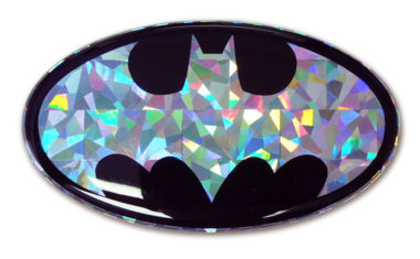 Batman Silver 3D Reflective Decal
