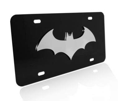 Batman Stainless Steel on Black License Plate