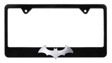 Batman Bat 3D Black License Plate Frame