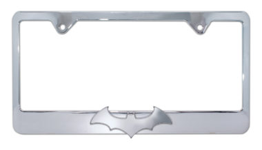 Batman Bat Chrome License Plate Frame image