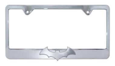 Batman Bat 3D Chrome License Plate Frame