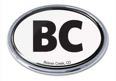 Beaver Creek White Chrome Emblem