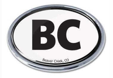 Beaver Creek White Chrome Emblem