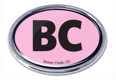 Beaver Creek Pink Chrome Emblem