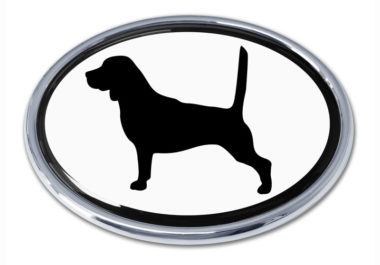 Beagle White Chrome Emblem image