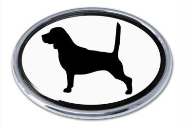 Beagle White Chrome Emblem