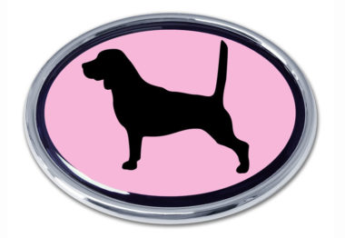 Beagle Pink Chrome Emblem