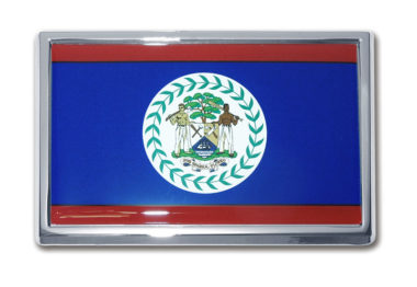 Belize Flag Chrome Emblem