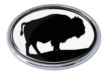 Bison White Chrome Emblem image