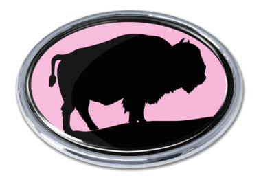 Bison Pink Chrome Emblem