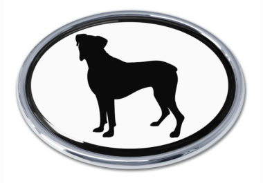 Boxer White Chrome Emblem