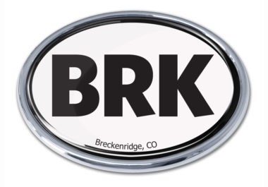 Breckenridge White Chrome Emblem