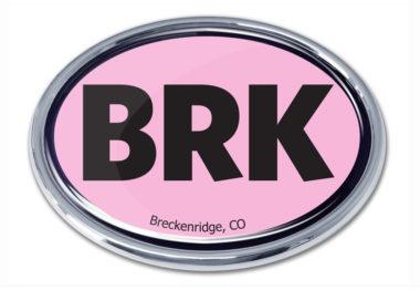 Breckenridge Pink Chrome Emblem
