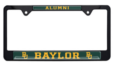 Baylor Alumni Black License Plate Frame