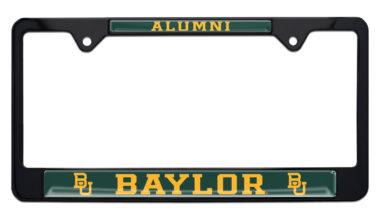Baylor Alumni Black License Plate Frame image