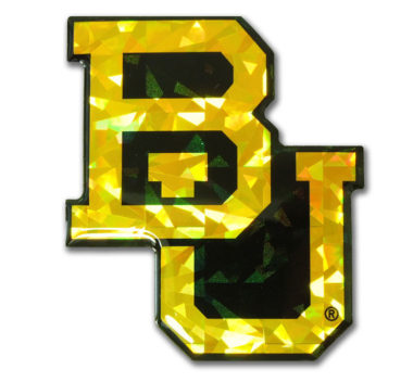 Baylor Yellow 3D Reflective Decal