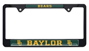 Baylor Bears Black License Plate Frame