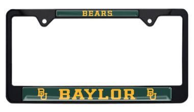 Baylor Bears Black License Plate Frame